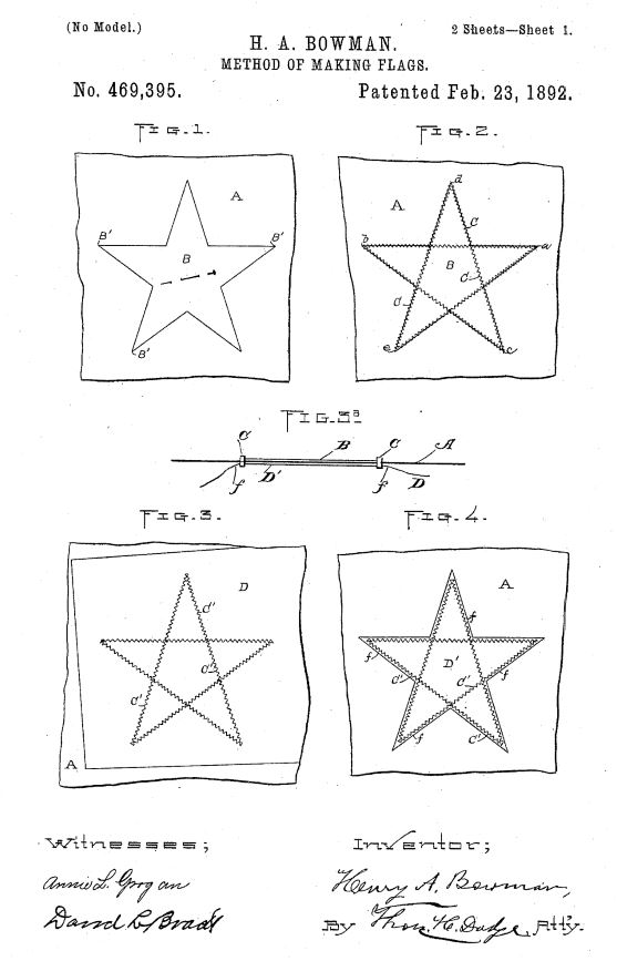 US469,935 - Method of Making Flags | Circa 1889