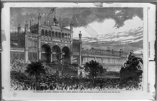Main Building and Crowd at the Centennial Exposition | Circa 1876