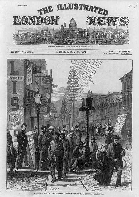 Street in Philadelphia on the Opening of the American Centennial Exhibition | Circa 1876