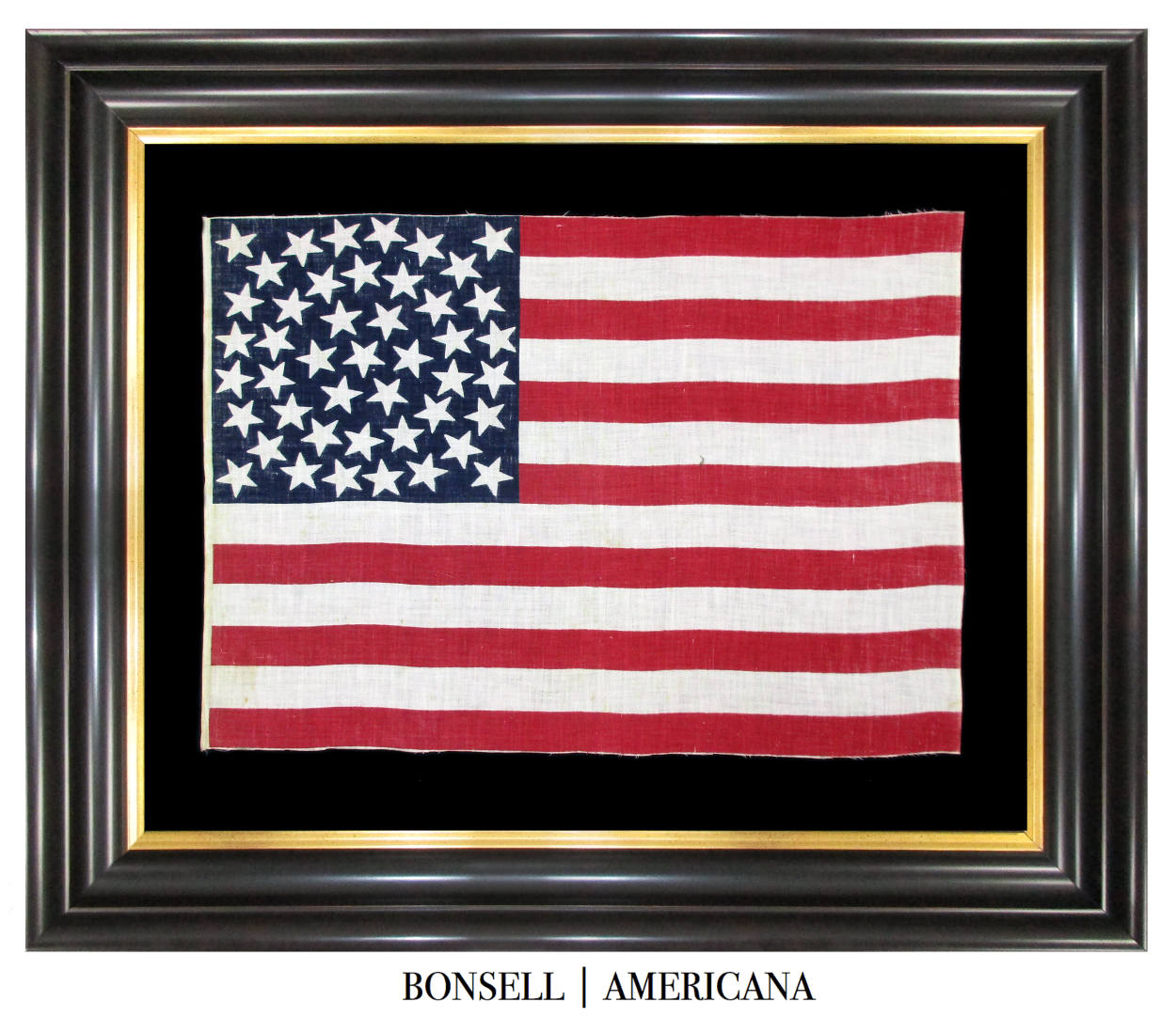 45 Star Antique American Flag with a Fantastic Medallion Pattern