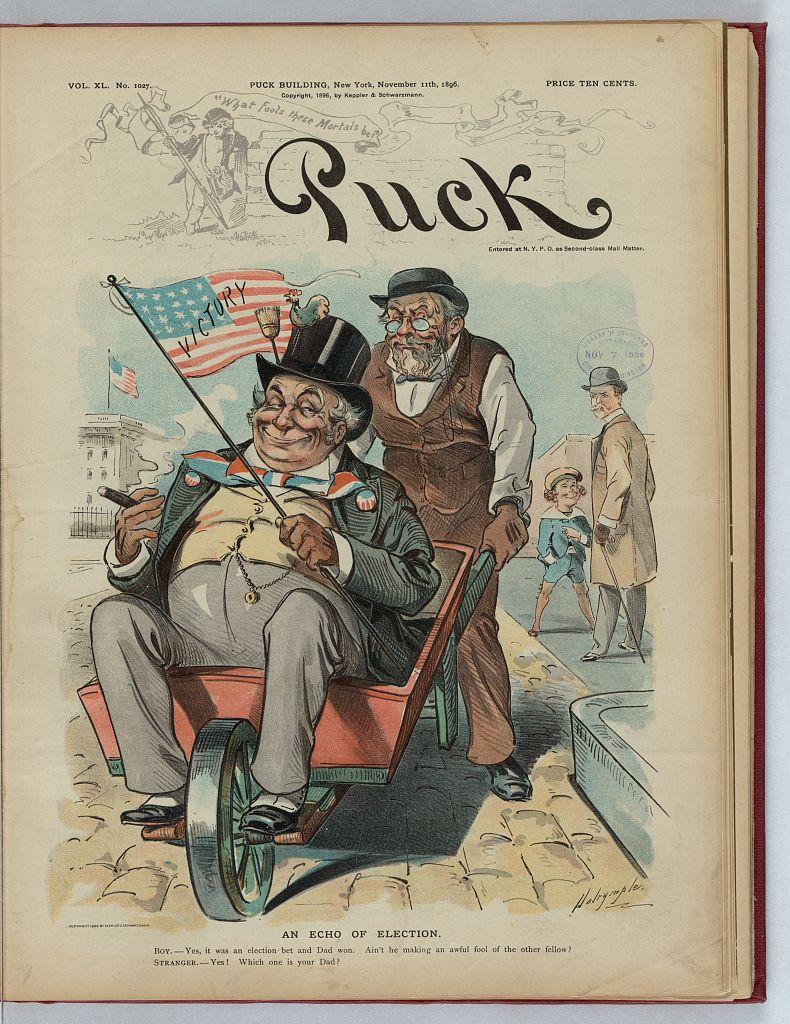 An Echo of Election   Circa 1896