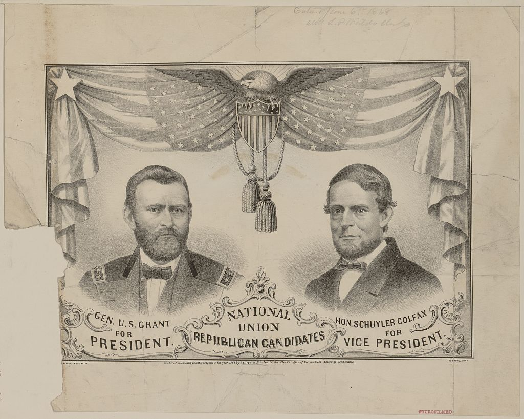 Campaign Banner for the Republican Presidential Ticket | Circa 1868