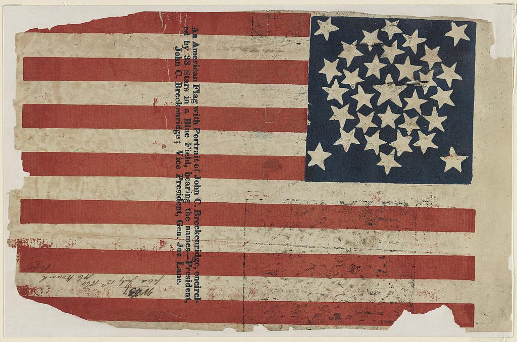 Campaign Flag for Breckinridge and Lane   Circa 1860