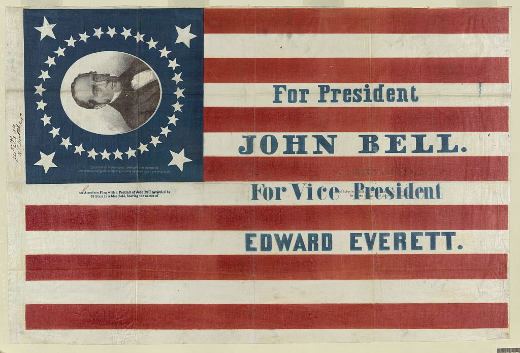 Constitutional Union Party Campaign Flag | Circa 1860