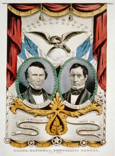 Demcratic Banner   Circa 1852