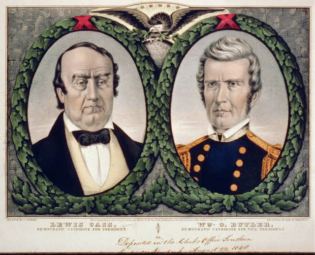 Democratic Candidates for President | Circa 1848