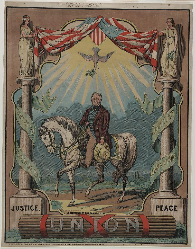 Democratic Nominee Zachary Taylor   Circa 1848
