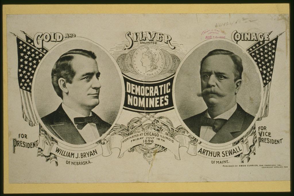 Democratic Nominees for President   Circa 1896