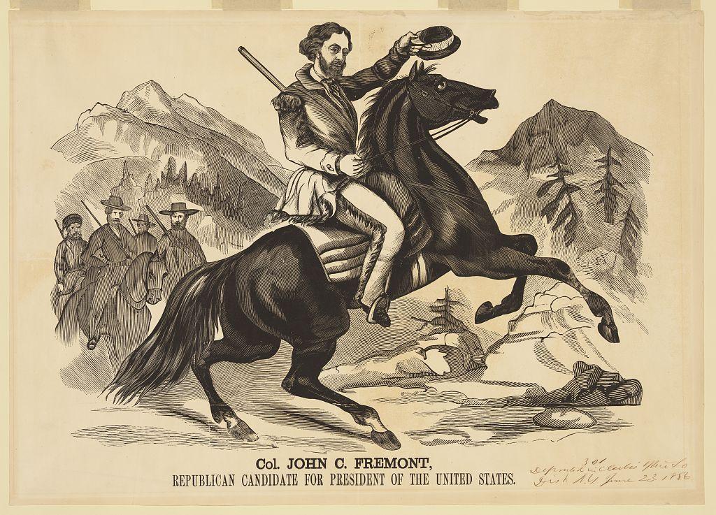Fremont for President   Circa 1856