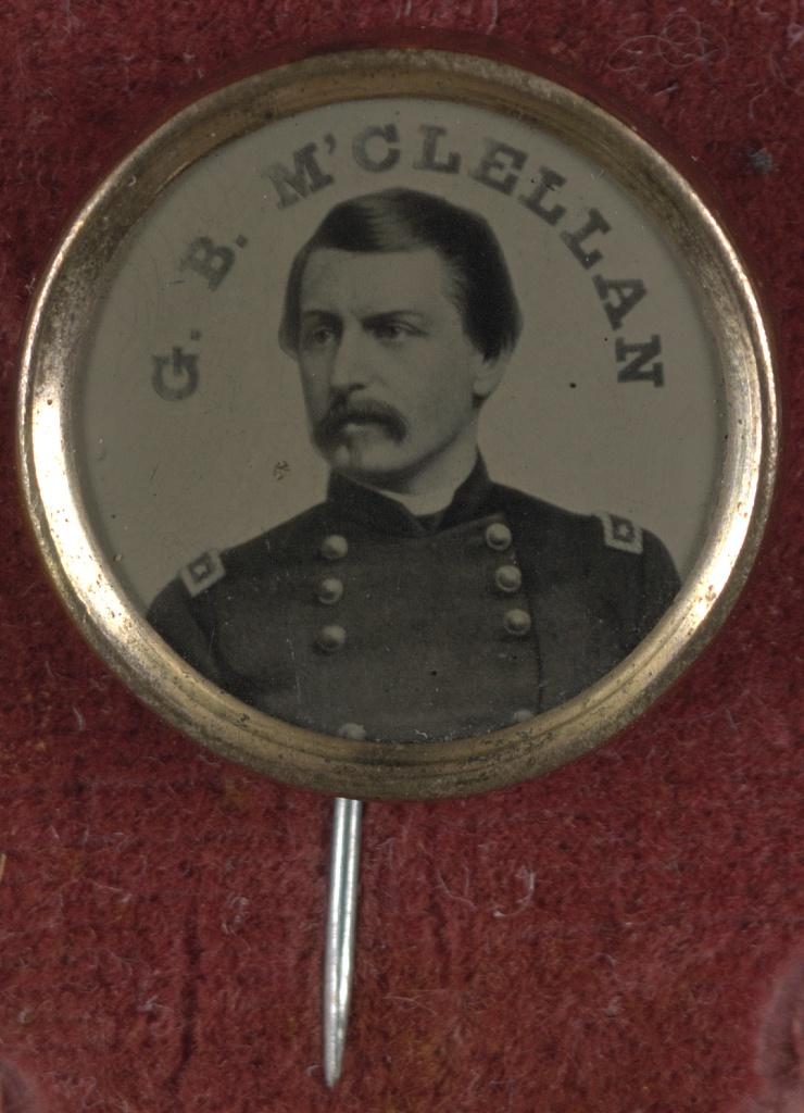 General George McClellan Campaign Button   Circa 1864