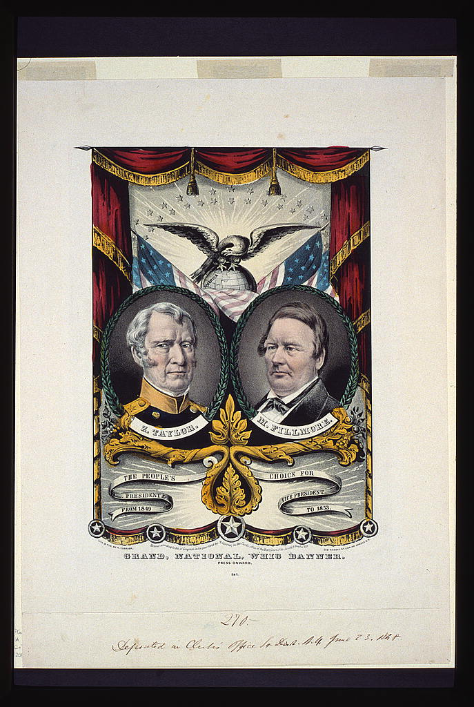 Grand National Whig Banner   Circa 1848