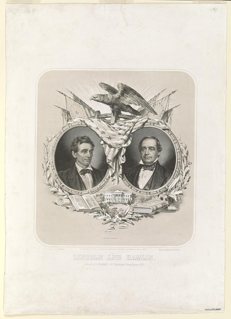 Lincoln and Hamlin   Circa 1860