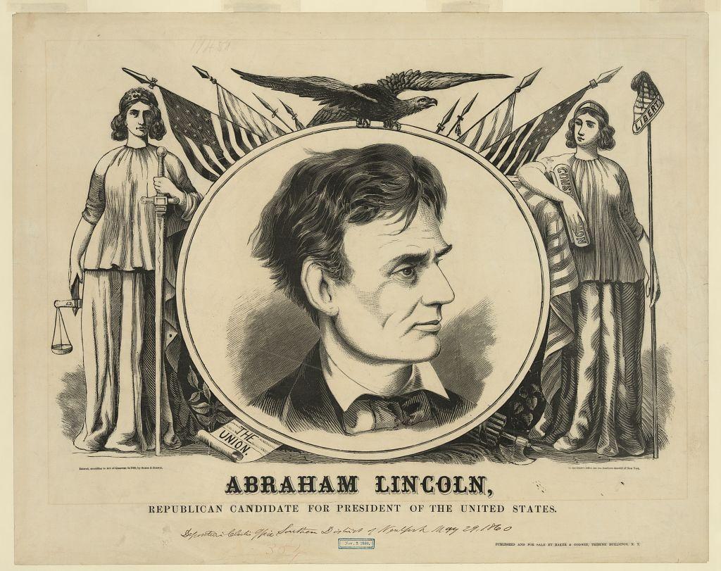 Lincoln Campaign Banner   Circa 1860
