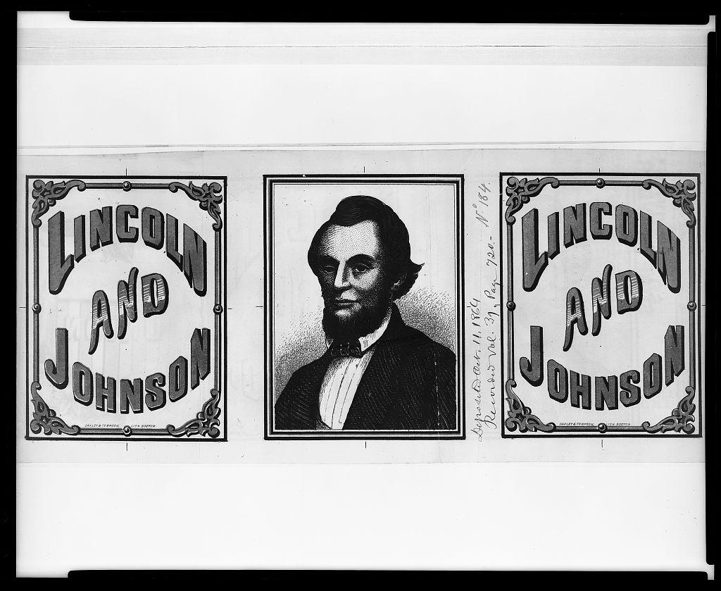 Lincoln Campaign Banner   Circa 1864