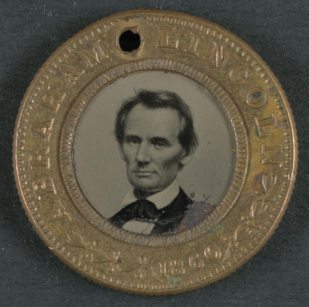 Lincoln and Hamlin Campaign Button   Circa 1860
