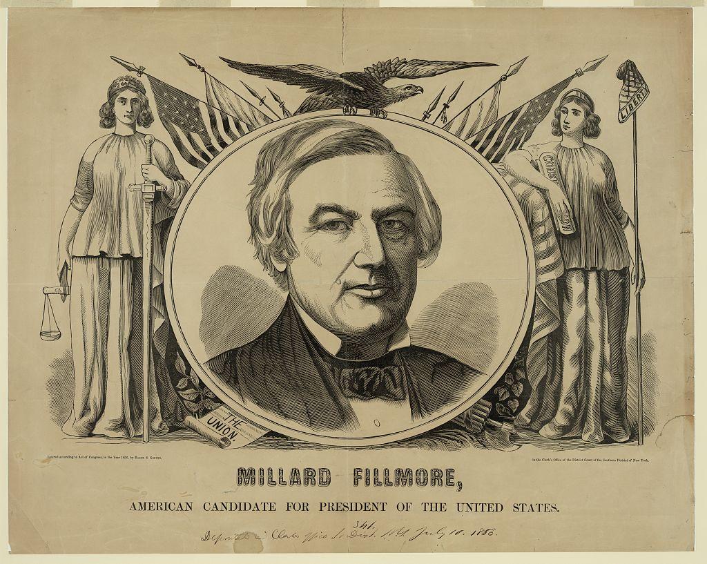 Millard Fillmore for President   Circa 1856