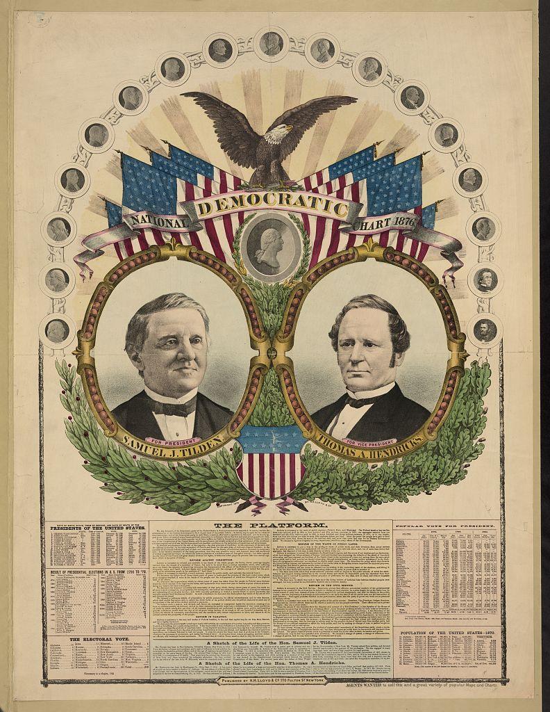 National Democratic Chart   Circa 1876