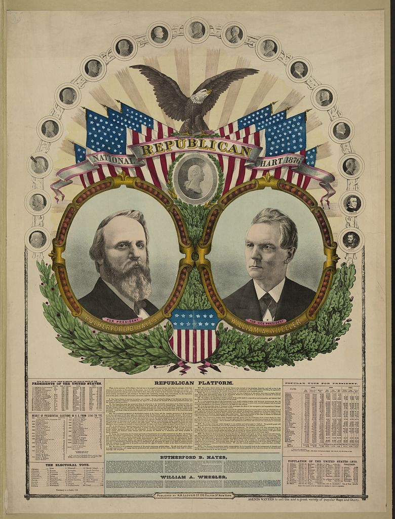 National Republican Chart   Circa 1876