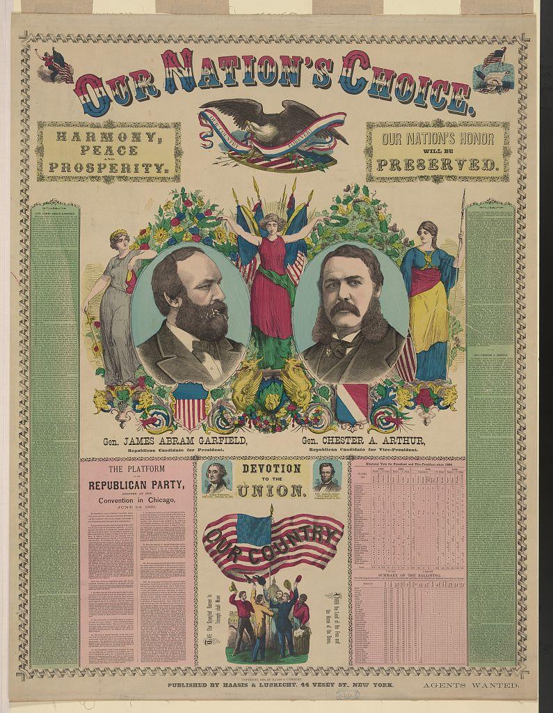 Our Nation's Choice   Circa 1880