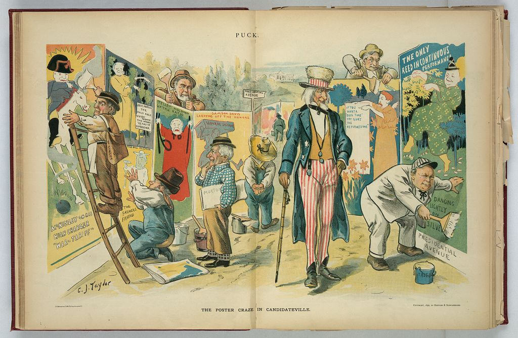 Poster Craze in Candidateville | Circa 1896