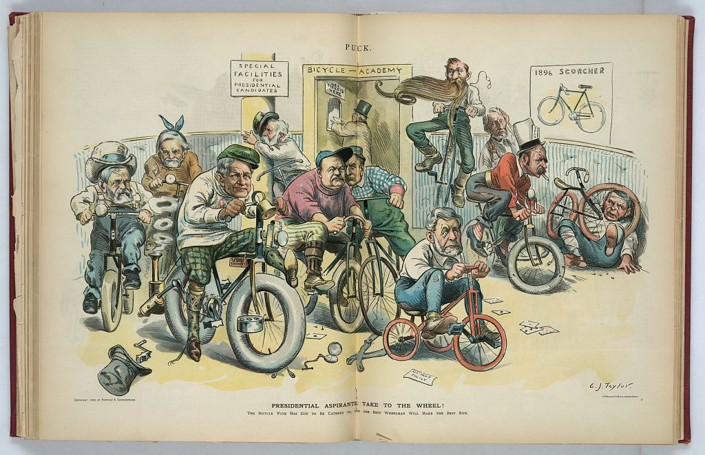 Presidential Aspirants Take to the Wheel   Circa 1895