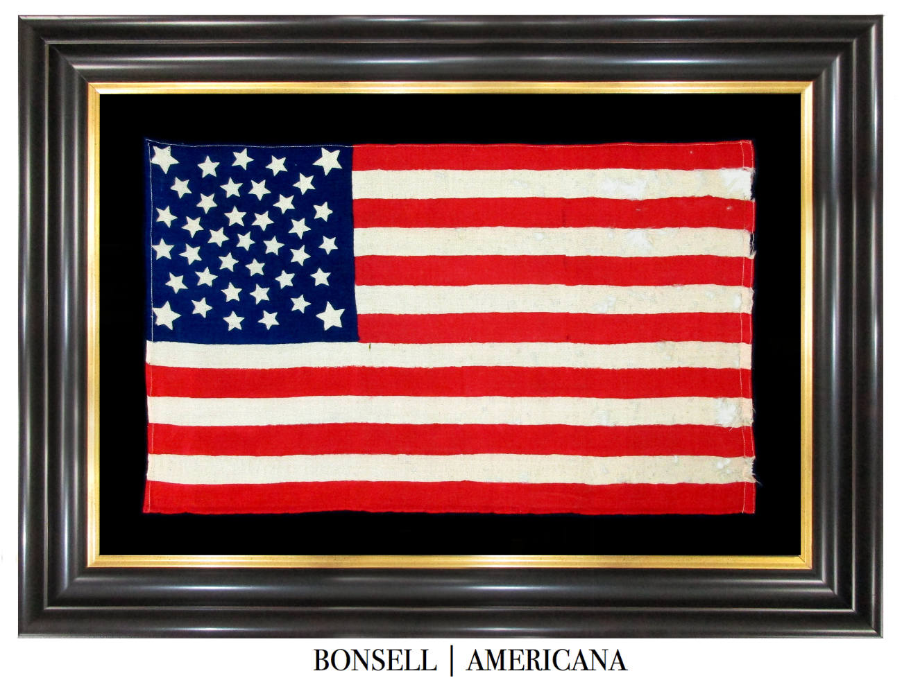 38 Star Antique Flag with a Fantastic Medallion Pattern