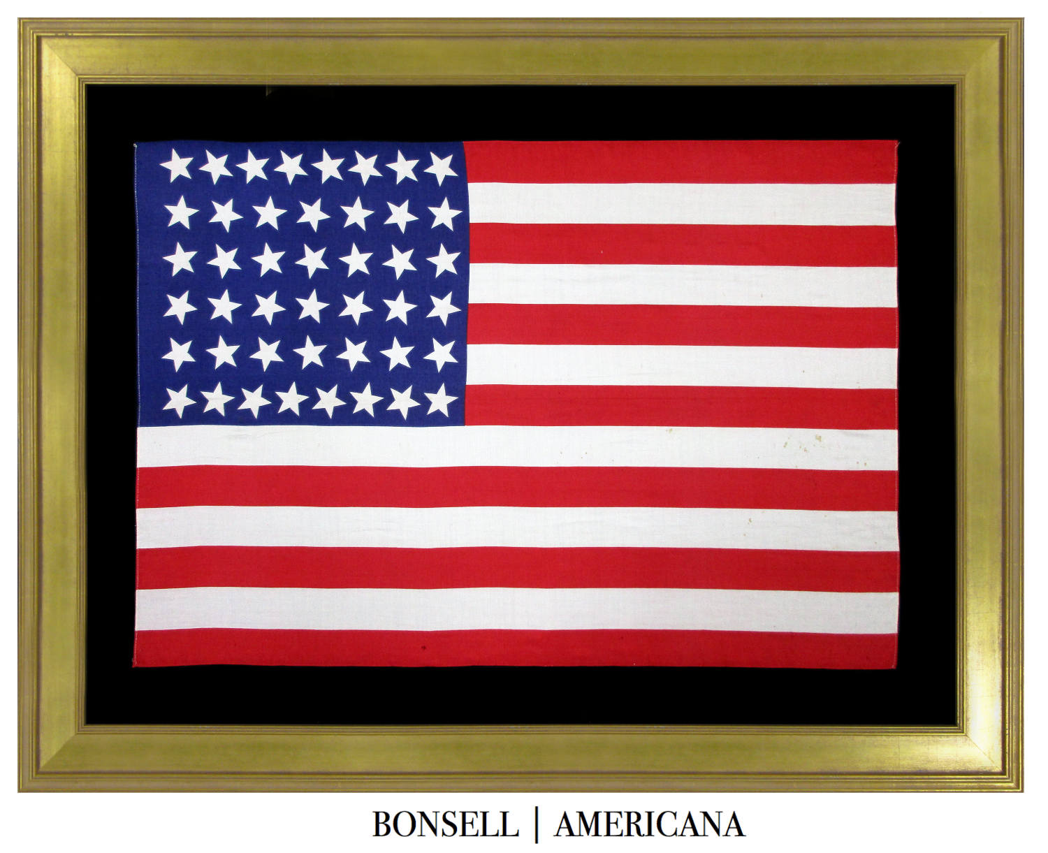 44 Star Antique American Flag with Canted Stars