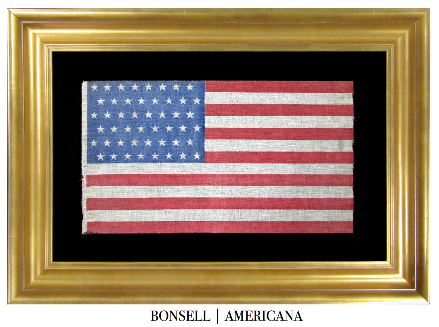 48 Star Antique Flag with Staggered Star Pattern