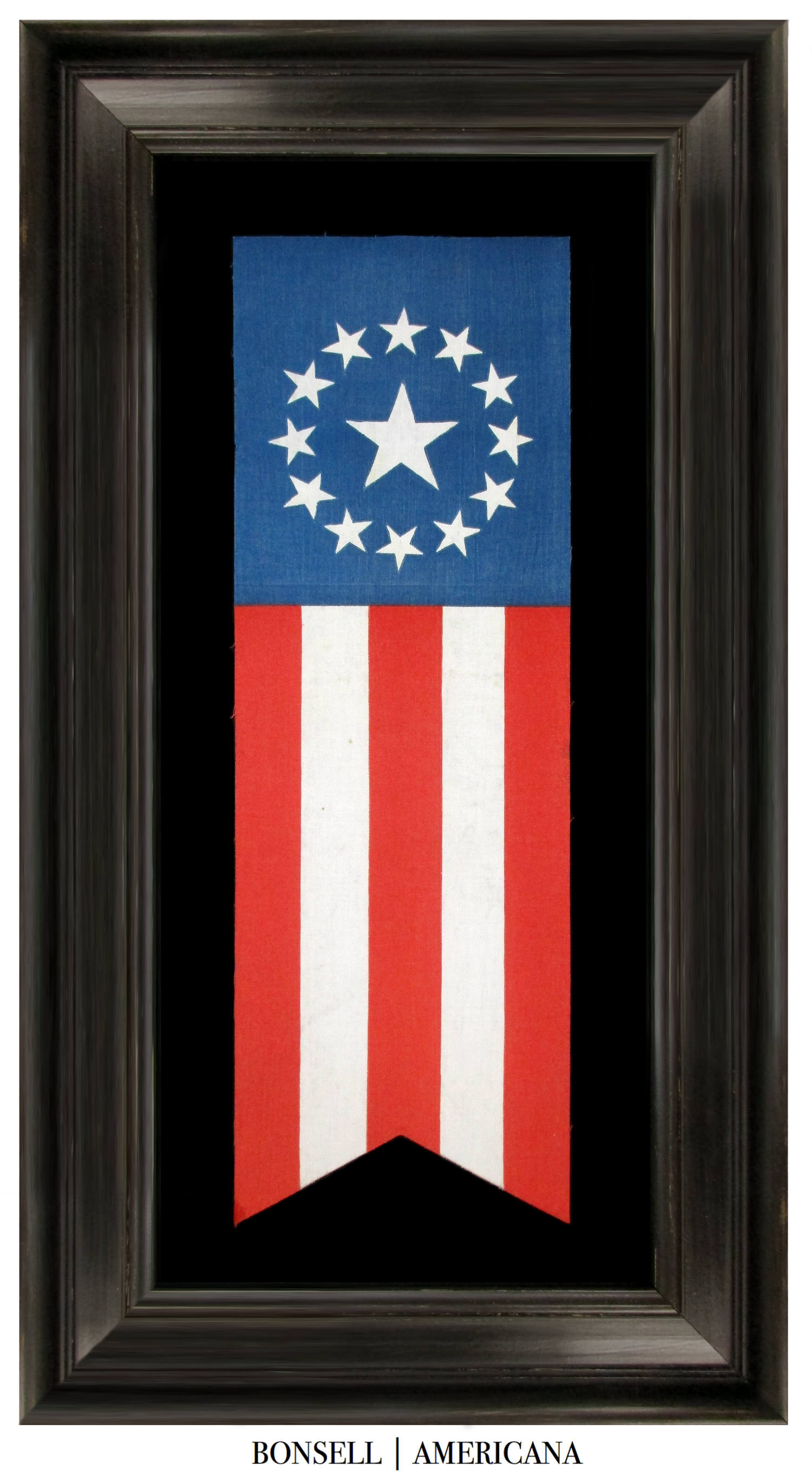 13 Star Cowpens Style Antique US Flag Banner