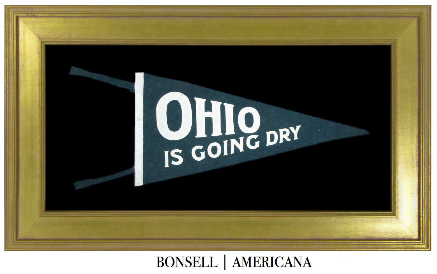 Antique Ohio is Going Dry Prohibition Pennant