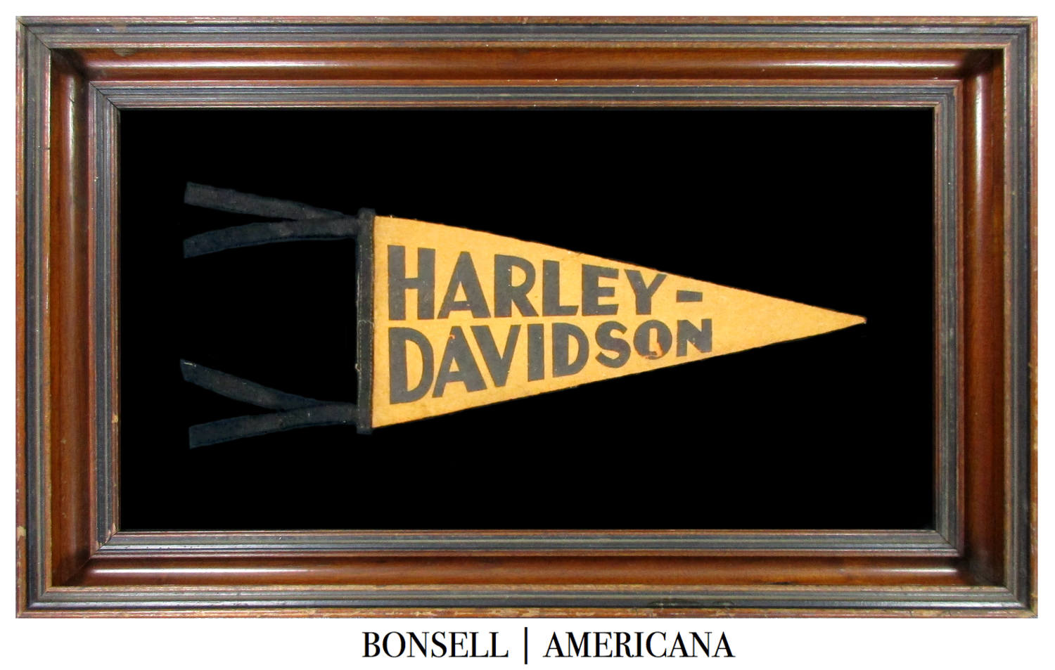 Antique Harley Davidson Motorcycle Pennant