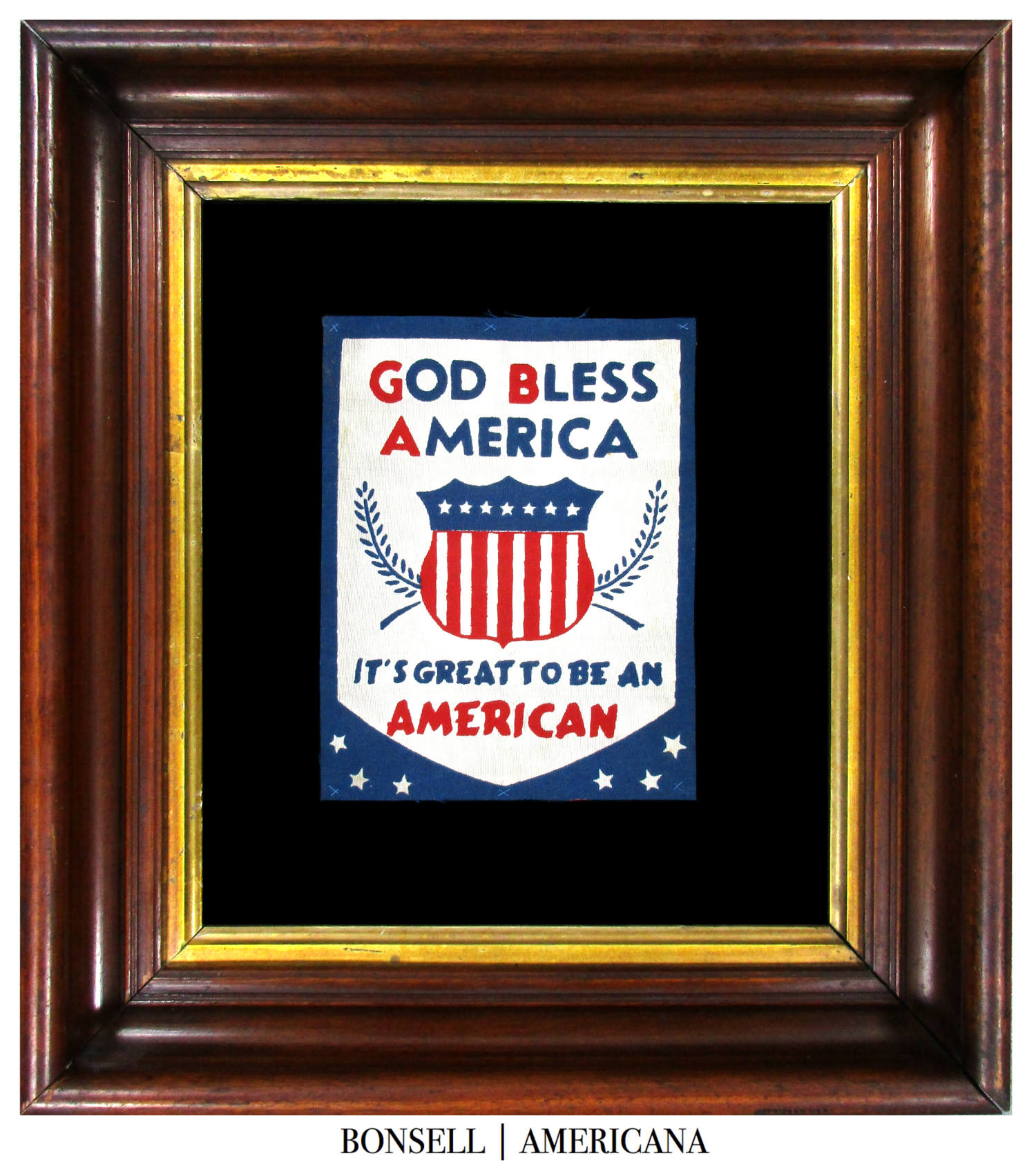 Coming Soon: Antique God Bless America Banner | Includes the Slogan It's Great to Be an American