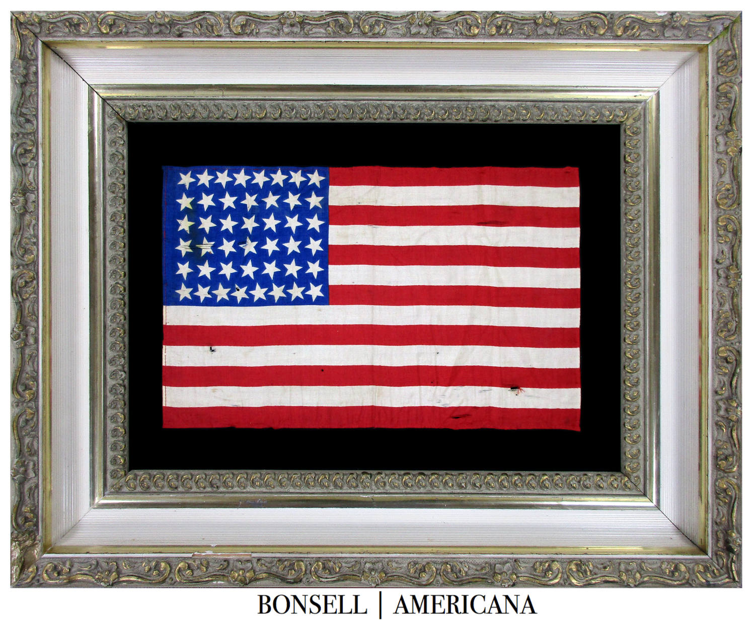 44 Star Antique Silk American Flag