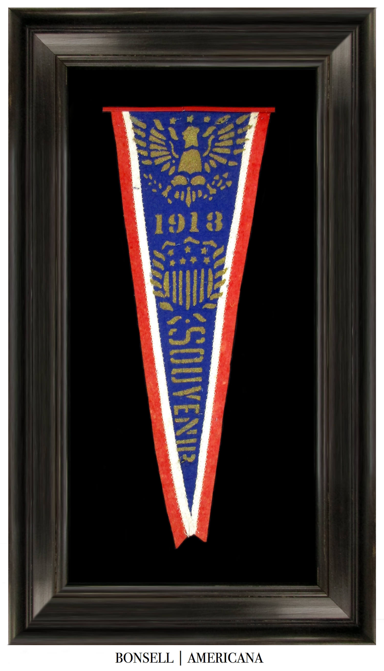 Souvenir Pennant Associated with the Inauguration of President Wilson 1913