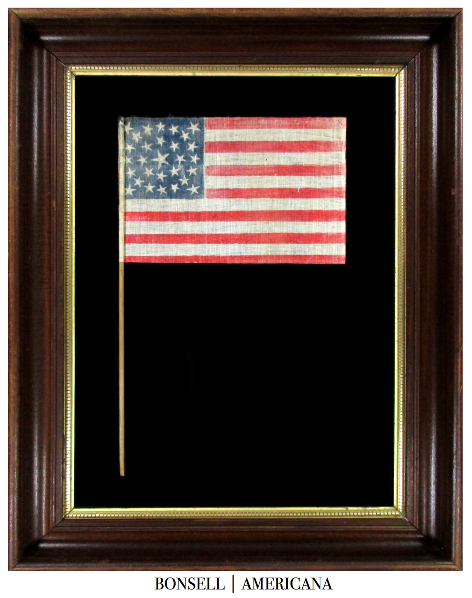 29 Star Antique US Flag with a Medallion Pattern  Made for Iowa Statehood
