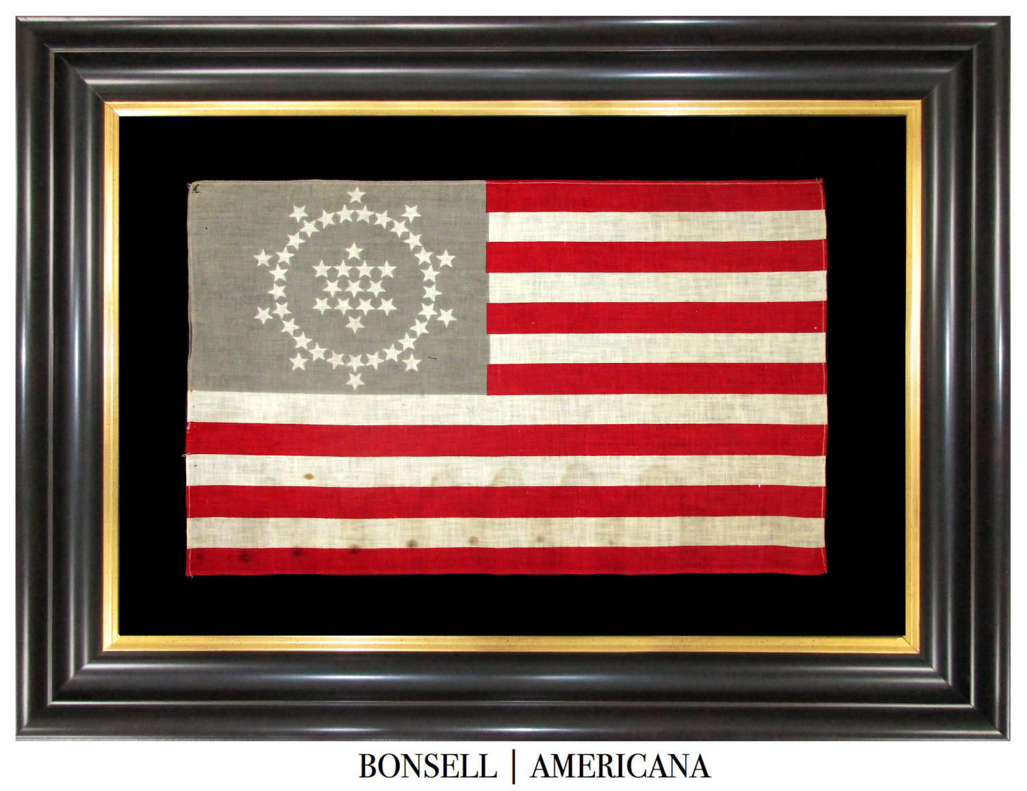 48 Star Antique American Flag with a Whipple Star Pattern