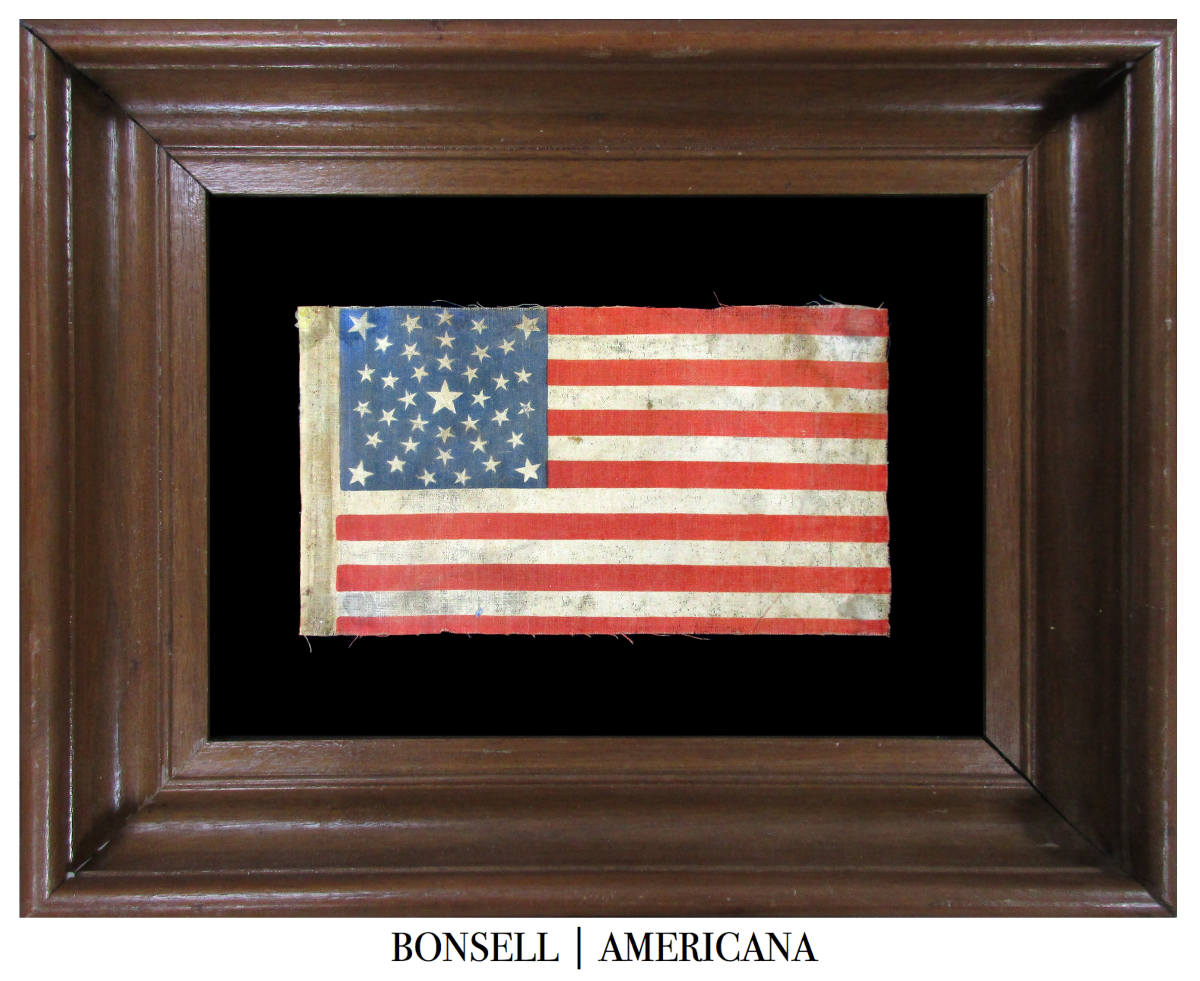 Coming Soon: 38 Star Antique Flag with a Rare Summer Sky Medallion Pattern