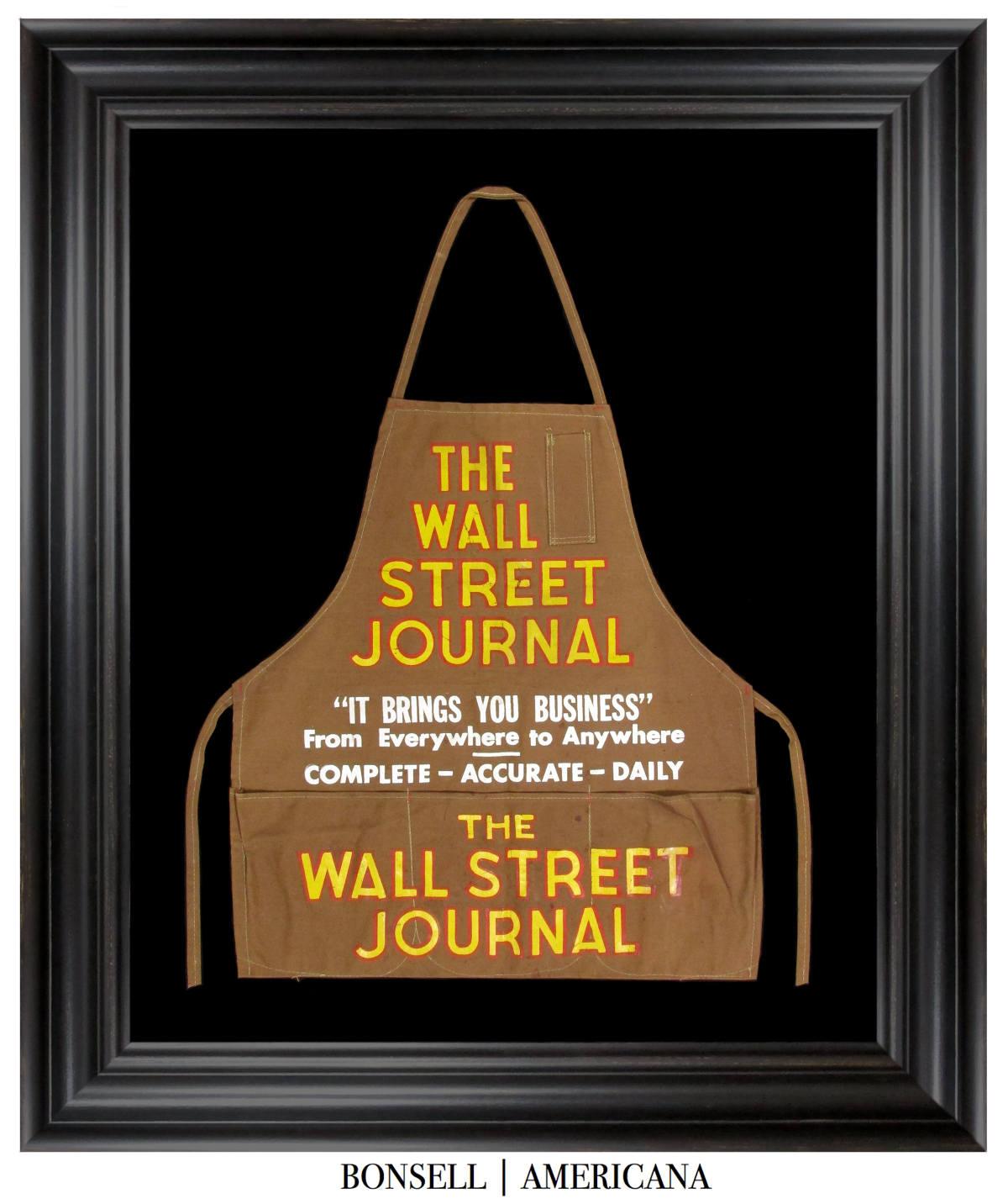Antique Wall Street Journal Newspaper Boy Apron