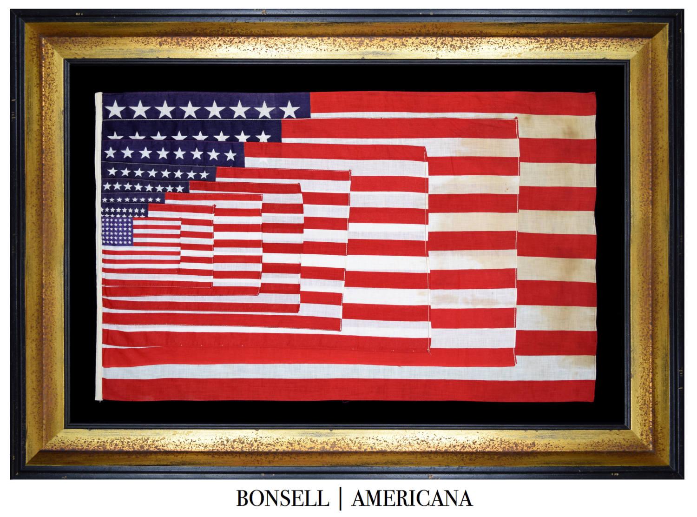 48 Star Antique Flag Salesman's Sample