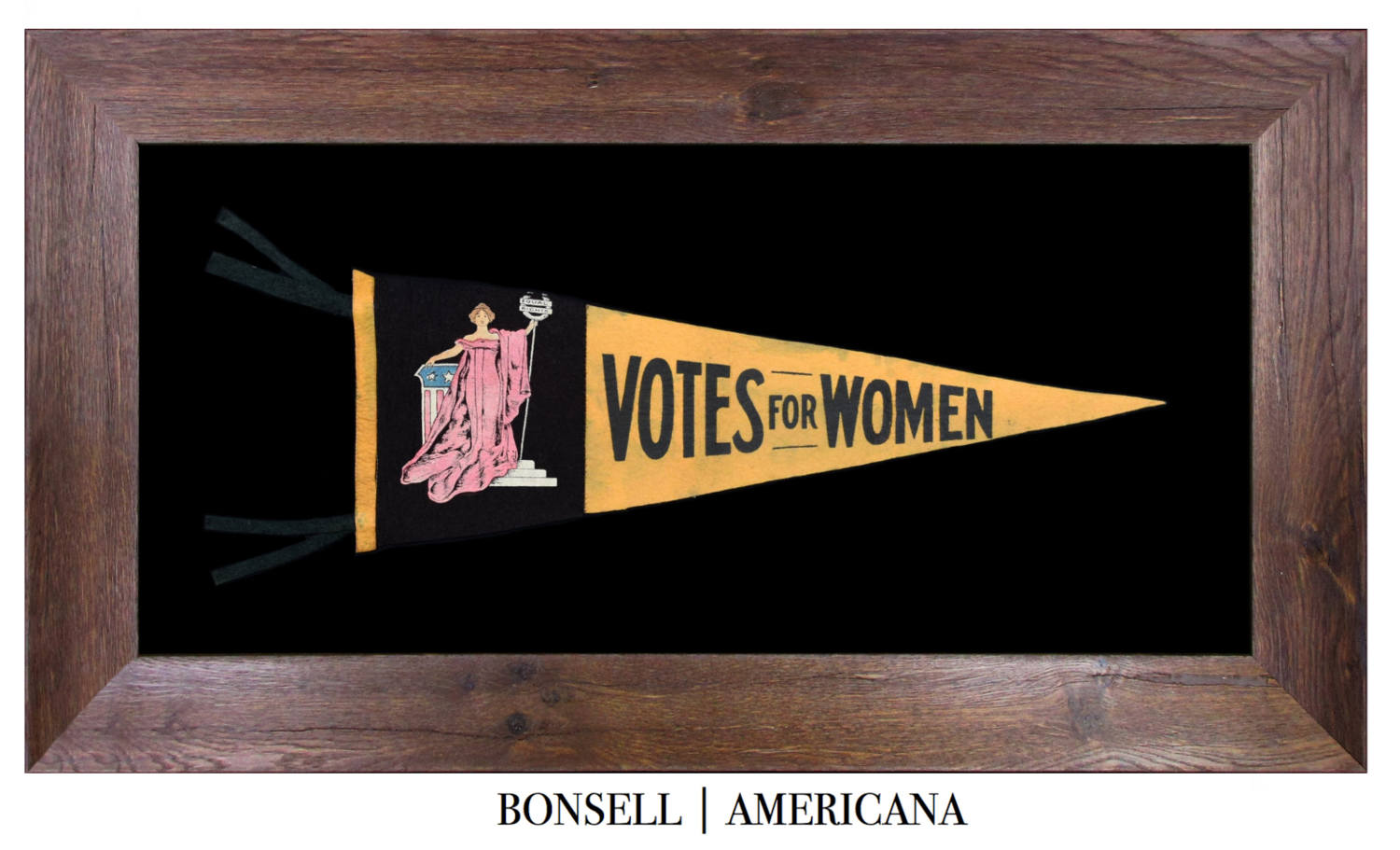 Antique Votes for Women Suffrage Pennant