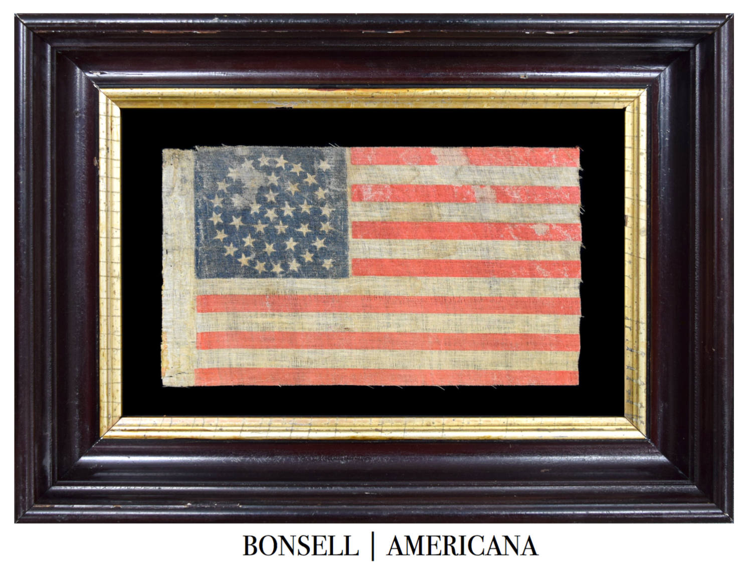 38 Star Antique Flag with a Medallion Star Pattern