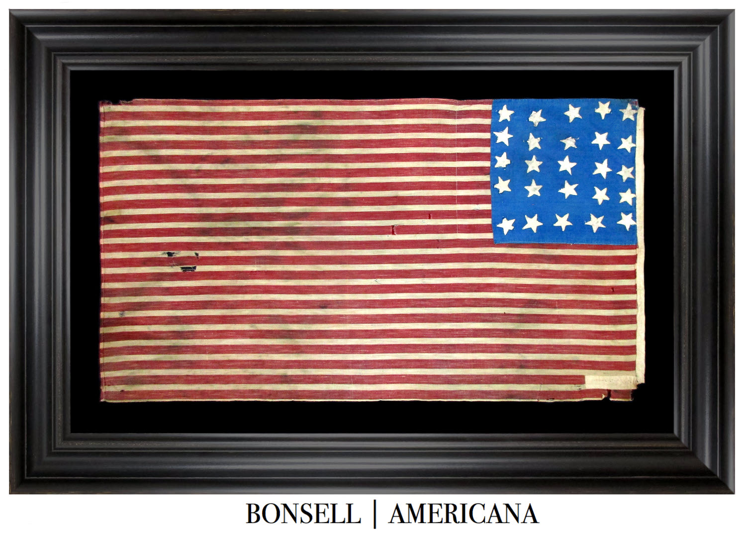 Antique Flag with 25 Stars and 35 Stars