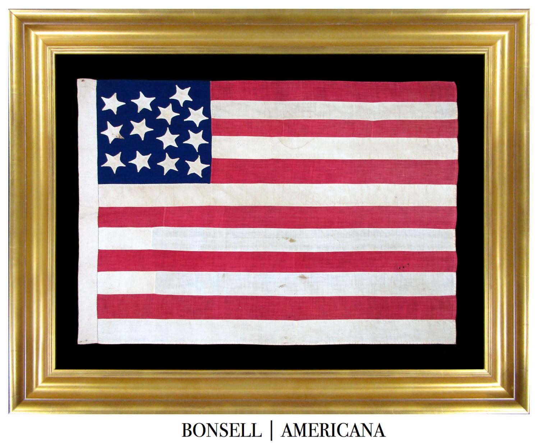 13 Star Antique Civil War Flag
