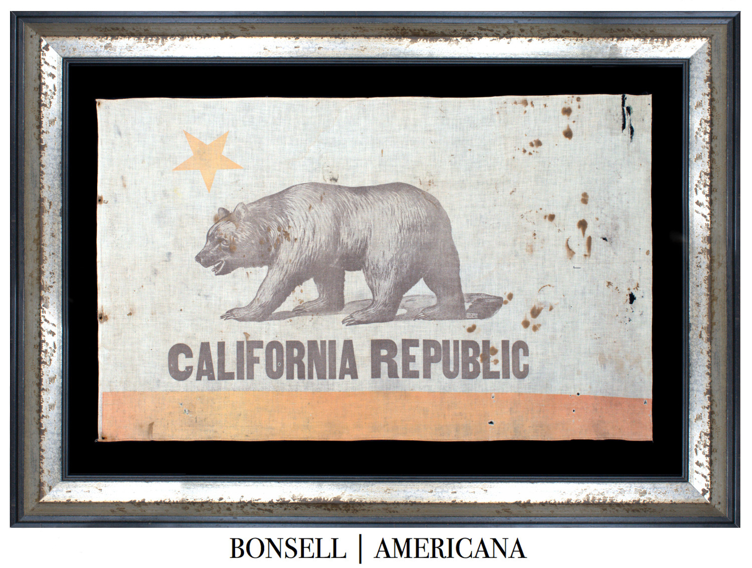 Antique California State Bear Flag