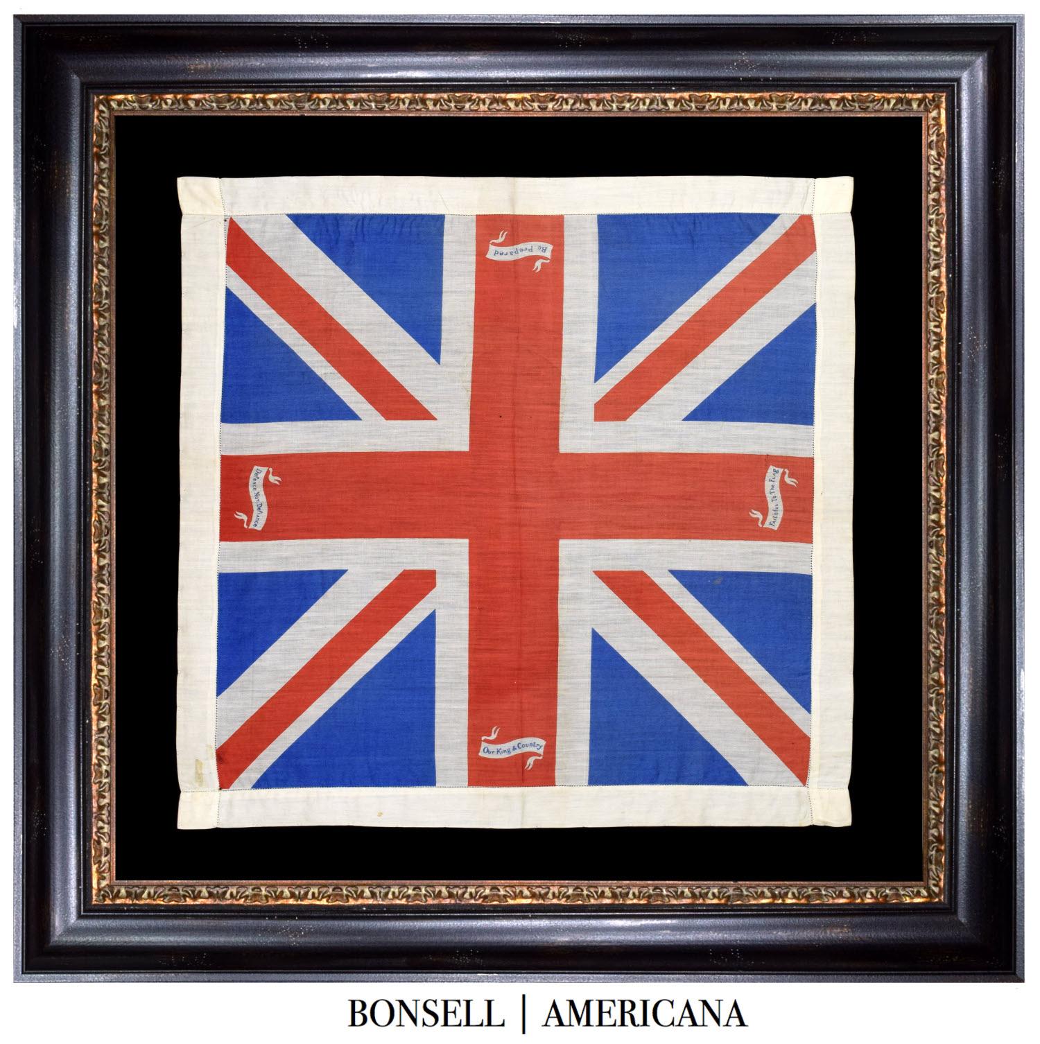 Antique Union Jack with Patriotic Quotes