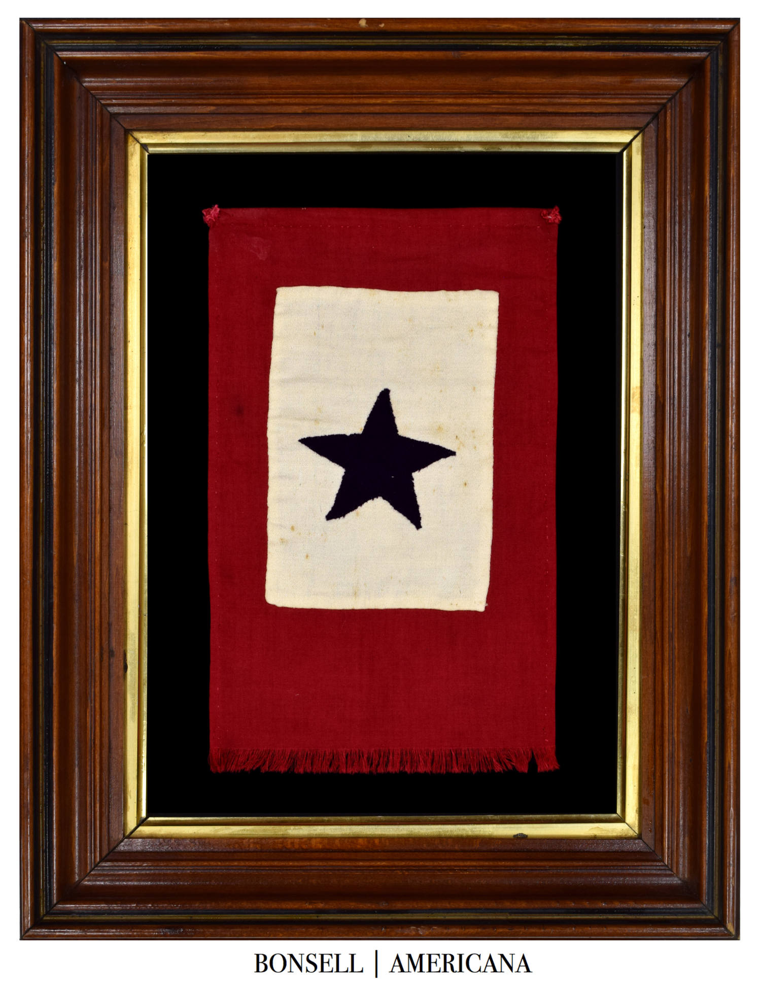 Antique WWII Handmade Service Flag