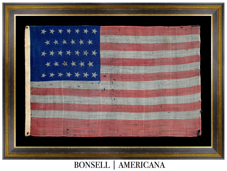 Rare 33 Star Antique Flag | Oregon Statehood