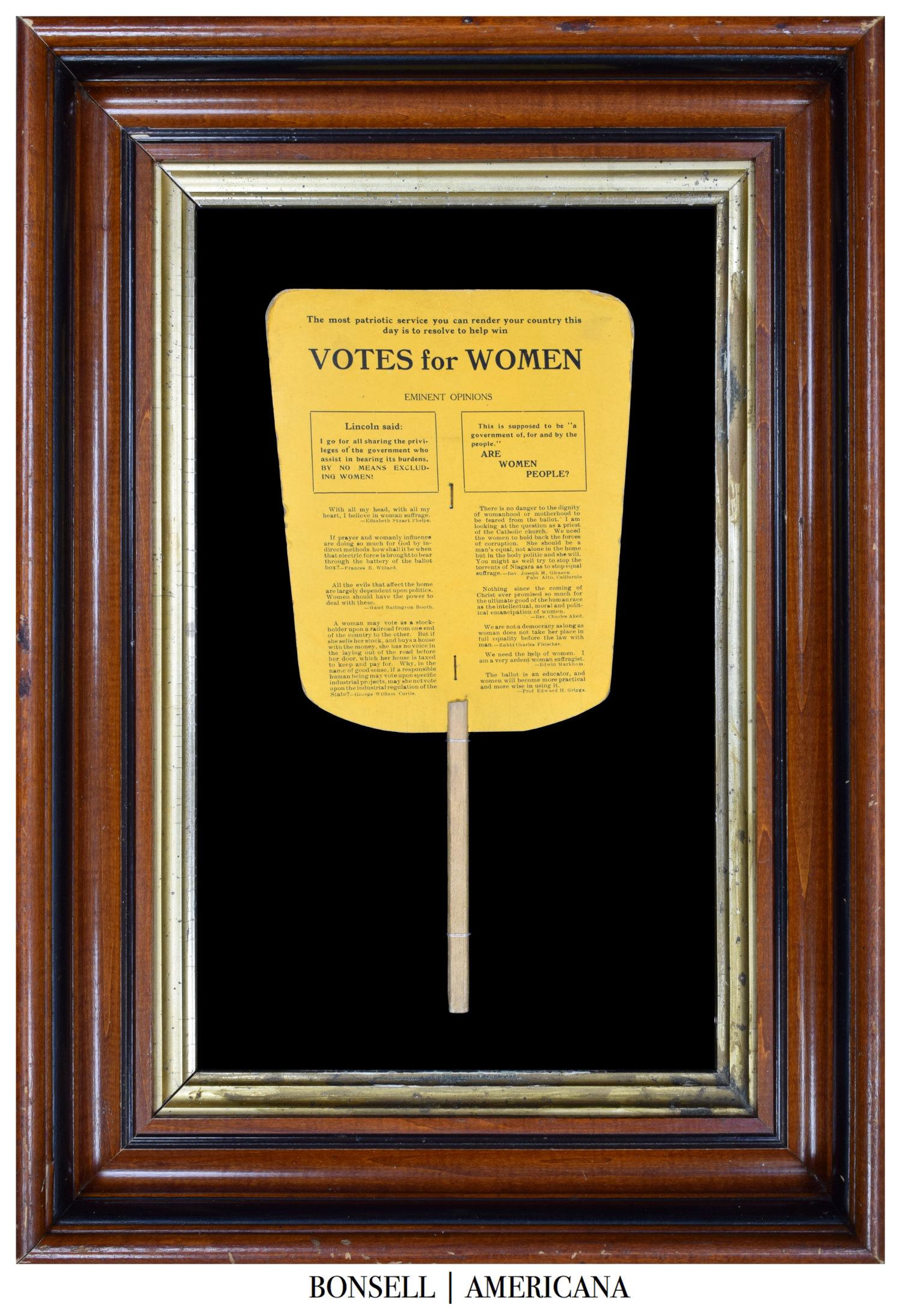 Antique Votes for Women Fan