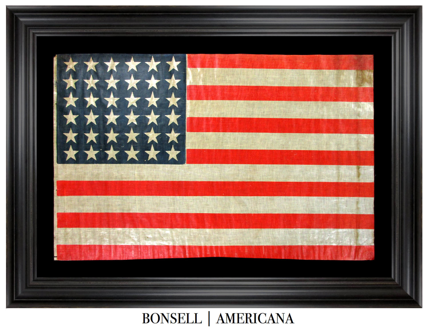 Antique Flag with a Rectilinear Star Pattern