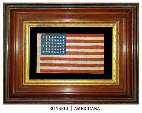 Antique Flag with Notched Star Pattern